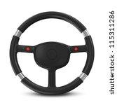 black steering wheel on white... | Shutterstock . vector #115311286
