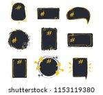 set of empty bubble banners... | Shutterstock .eps vector #1153119380