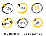 set of bubble banners with... | Shutterstock .eps vector #1153119413