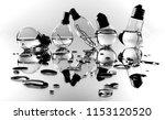 lamps in water | Shutterstock . vector #1153120520