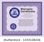 violet retro warranty... | Shutterstock .eps vector #1153128236