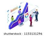 isometric web banner data... | Shutterstock .eps vector #1153131296