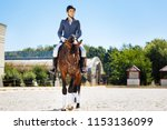 promising equestrian. young... | Shutterstock . vector #1153136099