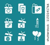 simple set of party vector... | Shutterstock .eps vector #1153141766