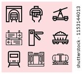 outline train icon set such as...   Shutterstock .eps vector #1153144013