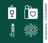 simple set of party vector... | Shutterstock .eps vector #1153148069