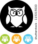 Stock vector owl vector icon isolated 115315033