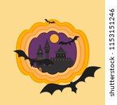 helloween paper cut vector...   Shutterstock .eps vector #1153151246