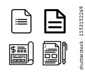 outline set of 4 document icons ... | Shutterstock .eps vector #1153152269