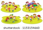 a set of children playing at... | Shutterstock .eps vector #1153154660