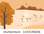 autumn landscape illustration. | Shutterstock .eps vector #1153158206