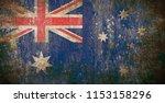 old grunge australia flag | Shutterstock . vector #1153158296