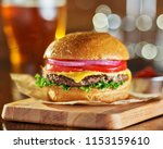 tasty fast food style cheese... | Shutterstock . vector #1153159610
