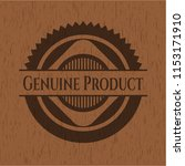 genuine product wooden emblem.... | Shutterstock .eps vector #1153171910