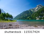 Mountain Lake At Kloental ...