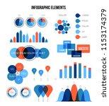 ads rating visualisation... | Shutterstock .eps vector #1153174379