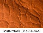orange crinkle paper background. | Shutterstock . vector #1153180066
