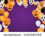halloween background with...   Shutterstock .eps vector #1153182763