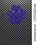 balloons purple for halloween   Shutterstock .eps vector #1153182766