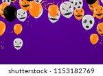 halloween background with...   Shutterstock .eps vector #1153182769