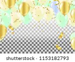 balloons isolated. celebration...   Shutterstock .eps vector #1153182793