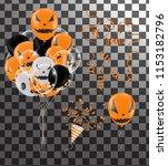 halloween background with...   Shutterstock .eps vector #1153182796
