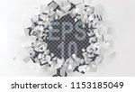 exploding wall with free area... | Shutterstock .eps vector #1153185049