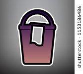 bucket and a rag sign. vector.... | Shutterstock .eps vector #1153186486