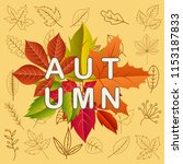 autumn background . vector... | Shutterstock .eps vector #1153187833