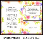 vintage delicate greeting... | Shutterstock . vector #1153191463