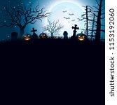 halloween background with... | Shutterstock .eps vector #1153192060