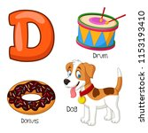 illustration of d alphabet   Shutterstock .eps vector #1153193410