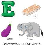 illustration of e alphabet   Shutterstock .eps vector #1153193416