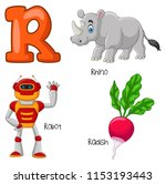 illustration of r alphabet | Shutterstock .eps vector #1153193443