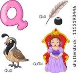 illustration of q alphabet   Shutterstock .eps vector #1153193446