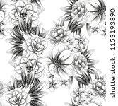 flower print in bright colors.... | Shutterstock .eps vector #1153193890