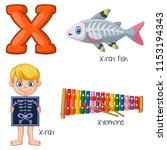 illustration of x alphabet | Shutterstock .eps vector #1153194343