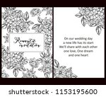 romantic wedding invitation... | Shutterstock .eps vector #1153195600