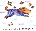 watercolor illustration a... | Shutterstock . vector #1153203310