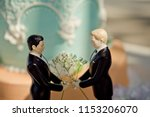 gay marriage cake topper | Shutterstock . vector #1153206070