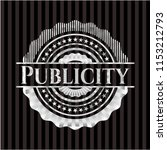 publicity silvery shiny badge | Shutterstock .eps vector #1153212793