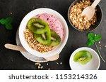 homemade vegan banana currant... | Shutterstock . vector #1153214326
