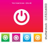power icon in colored square... | Shutterstock .eps vector #1153216003