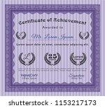 violet diploma template. good... | Shutterstock .eps vector #1153217173