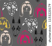 vector naive hand drawn breed... | Shutterstock .eps vector #1153220179
