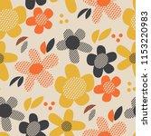 vintage colors geometric floral ... | Shutterstock .eps vector #1153220983