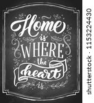 home is where the heart is hand ... | Shutterstock .eps vector #1153224430