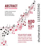 color music notes on a solide... | Shutterstock .eps vector #1153225540