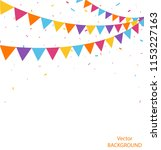 celebration background with... | Shutterstock .eps vector #1153227163