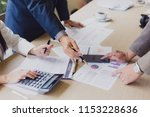 business team meeting present... | Shutterstock . vector #1153228636